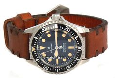 Kunz Vintage Style Ammo Leather Watchstrap For Steinhart Watches
