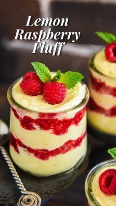 Fluff Desserts, Raspberry Desserts, Köstliche Desserts, Delicious Desserts, Dessert Recipes, Yummy Food, Raspberry Crisp, Instant Pot Turkey Breast Recipe, Pressure Cooker Turkey