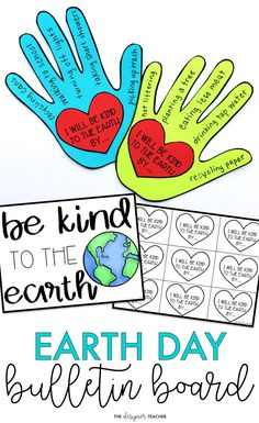 Create a cute Earth Day Bulletin Board while encouraging students to reflect on ways they can be kind to the earth. This bulletin board kit makes the perfect low prep Earth Day activity. Teaching Tools, Teaching Resources, King Pic, School Displays, Library Displays, Earth Day Crafts, Earth Day Activities, Classroom Activities, Classroom Decor