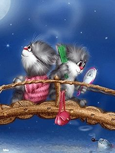 Коты Алексея Долотова — Yandex.Disk Funny Cat Pictures, Cute Pictures, Kitten Cartoon, Matou, Animation, Christmas Cats, Cat Gif, Cool Cats, Animals Beautiful