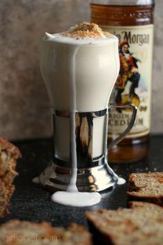 Boozy Coconut White Hot Chocolate #CaptainsTable w/ @Amber Massey Morgan via www.girlichef.com