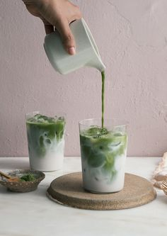 Matcha Iced Latte | A Cozy Kitchen