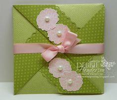 Decorative Border Folded Envelope by Debbie Henderson, Debbie's Designs, Stampin' Up! supplies