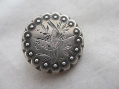 """ANTIQUE c1890 VICTORIAN STERLING SILVER swallow """" i will return """" BROOCH PIN"""