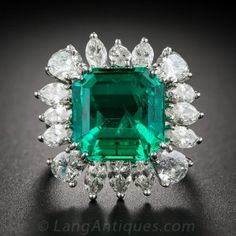 9.06 Carat Emerald and Diamond Ring - AGL Certified (Insignificant to Minor Treatment)-$75,000.00