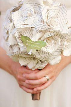 Bouquet de mariee papier 6