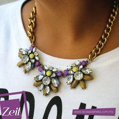 #Outfit #Zeit #Moda #Accesorios #oodt #neclace #violet #gold #trends #2015trends #fashion #style