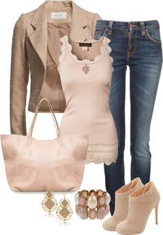"""Neutral Chic"" by angelysty ❤ liked on Polyvore"