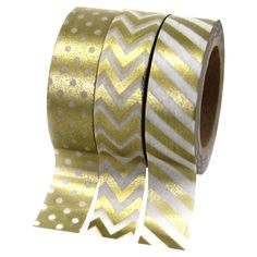 Melissa Washi Tape in Gold (Set of 3) - The Contemporary Office on Joss  Main