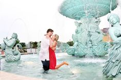engagement shoot in fountain