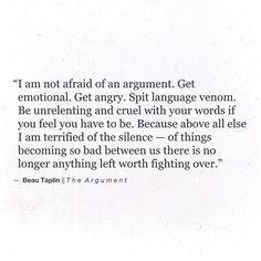 The Argument.