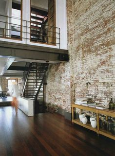 What I would give to have a brick wall in my future home. Just one, is that too much to ask?