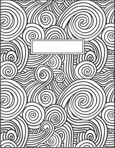 Black and white binder cover {re-size as necessary} Mandala Coloring, Colouring Pages, Adult Coloring Pages, Coloring Sheets, Coloring Books, School Binder Covers, Ecole Art, Notebook Covers, Good Notes