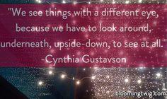 Cynthia Gustavson on Poetry & Blooming Twig Books #bloomingtwig