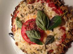 Pizza a base de legumes na clínica. Uma delícia!
