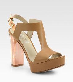 Vernon Leather T-strap Platform Sandals - Lyst