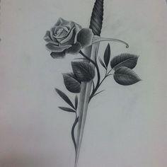 Rose dagger up for grabs #empiretattooboston #tattoo