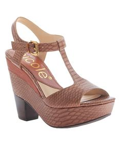 Another great find on #zulily! Havana Gerry Leather Platform Sandal #zulilyfinds