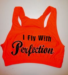 I fly with perfection Sports Bra  Email sales@justcheerbows.com to get yours Cheer Sports Bras, Cute Sports Bra, Cheer Bows, Sport Bras, Cheer Outfits, Nike Outfits, Sport Outfits, Fashion Outfits, Cheer Clothes