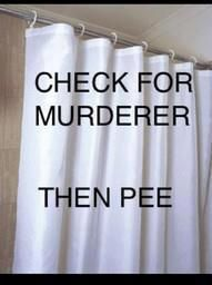 This is why I have a clear shower curtain. Problem solved!