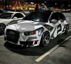 """""""Awesome camo RS4. [ Owner: @corbin_hughes ] #QUATTROFFICIAL #RS4 #camo…"""