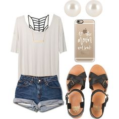 summer outfits are always going to be my thing! by kyleemorrison on Polyvore featuring T By Alexander Wang, RVCA, Jack Wills, Henri Bendel, Stella & Dot and Casetify
