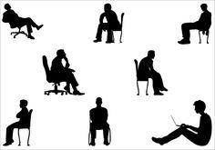Man Sitting silhouette vector graphicsSilhouette Clip Art