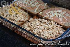Lasanha de Frango com Pão Integral » Massas, Receitas Saudáveis » Guloso e Saudável