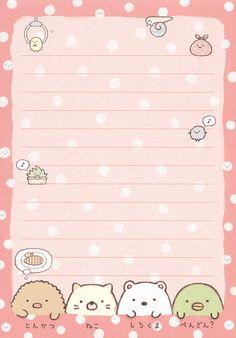 "San-X Sumikko Gurashi ""Places"" Memo Stickers Kawaii, Cute Stickers, Printable Scrapbook Paper, Printable Paper, Free Printable Stationery, Kawaii Stationery, Stationery Paper, Memo Notepad, Note Memo"