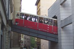 Funicular Fourviere, entering Saint-Jean station, Lyon