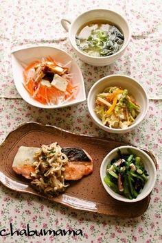 秋!鮭のソテーキノコマリネソース レシピブログ