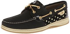 awesome Sperry Top-Sider Women's Bluefish Metallic Dot Boat Shoe, Black/Gold, 8 M US Sneakers Mode, Sneakers Fashion, Fashion Shoes, Shoes Sneakers, Sperry Top Sider Shoes, Sperry Shoes, Cheap Boat Shoes, Polka Dot Shoes, Metallic Shoes