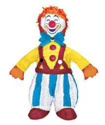 Circus Clown Pinata by Shindigz. $9.99. This Circus Clown Pinata holds a sweet treat to make party guests happy. Our 2 lb. bag of Pinata Filler contains 1.4 lb. of candy and .6 lb. of toys and trinkets.áCircus Clown Pinata is 23 inch h x 18 inch w.