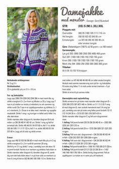 nille: Stikk: Damejakke med mønster gratis oppskrift Fair Isle Knitting Patterns, Knitting Charts, Knitting Designs, Knit Patterns, Knitting Projects, Icelandic Sweaters, Vintage Sweaters, Diy Projects To Try, Hobbies And Crafts