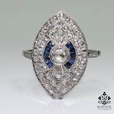 Period: Art deco (1920-1935) Composition: Platinum Stones: - 1 Rose cut diamond of I-VS2 quality that weighs 0.25ctw. - 64 Rose cut diamonds of H-VS2 quality that weigh 1ctw. - 10 naturals calibrated