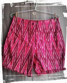 pink ikat shorts