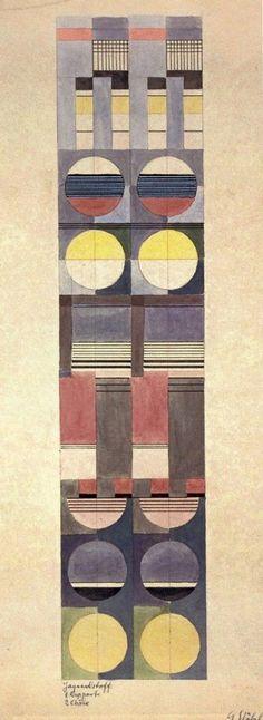 gunta-three Bauhaus textile design by Gunta Stolzl - Kunst Bauhaus Textiles, Bauhaus Art, Bauhaus Design, Weaving Textiles, Tapestry Weaving, Paul Klee, Art Deco, Art Nouveau, Textile Prints