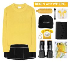 """""""Untitled #2814"""" by tacoxcat ❤ liked on Polyvore featuring Acne Studios, rag & bone, Art for Life, GPO, Kat Von D and LULUS"""