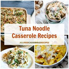Our collection of tuna noodle casseroles puts a spin on the recipe you know and love. We've also included classic tuna casseroles and healthier versions, too! Best Tuna Casserole, Tuna Noodle Casserole Recipe, Easy Casserole Recipes, Vegetarian Roast, Easy Vegetarian Lunch, Healthy Pasta Dishes, Healthy Dinner Recipes, Marinated Pork Tenderloins