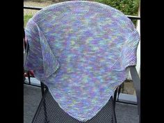Knit a Triangle Shawl (Bottom Up)