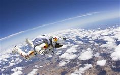 """""""Break sound barrier during a free fall started""""... As crazy as it sounds, it's the goal of Felix Baumgartner."""