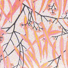 100% Linen Fabric, Eucalypt - Earth