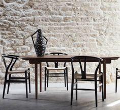 CH24 is the famous Wishbone Chair since 1949, by designer Hans J. Wegner for Carl Hansen & Søn.