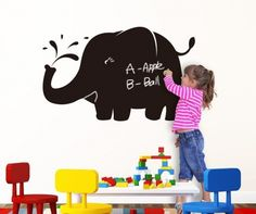 Sticker Blackboard Elephant