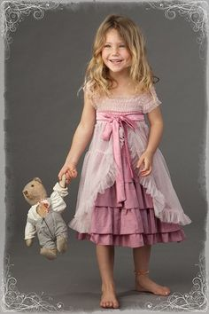 Luna Luna Copenhagen is known for exquisite little girls dresses from infant to tween sizes. Kids Outfits Girls, Girl Outfits, Little Girl Fashion, Kids Fashion, Little Girl Dresses, Flower Girl Dresses, Vintage Girls Dresses, Flower Girls, Dress Patterns