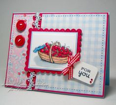Strawberry Picnic by scrapnextras - Cards and Paper Crafts at Splitcoaststampers  (Feb'13)