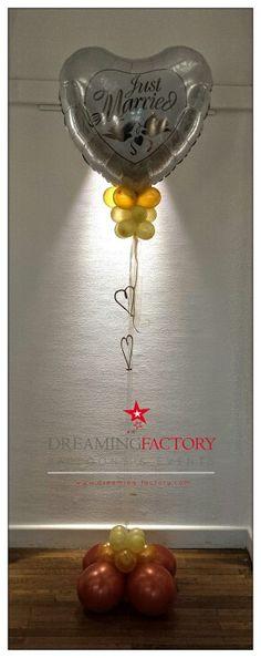 Colonne ballon coeur mariage wedding balloon #dreamingfactory