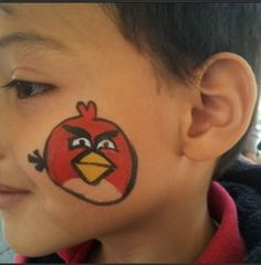 Face painting #face painting #angry bird