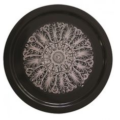 12LT LARGE ROUND TRAY with pattern (4-pack)
