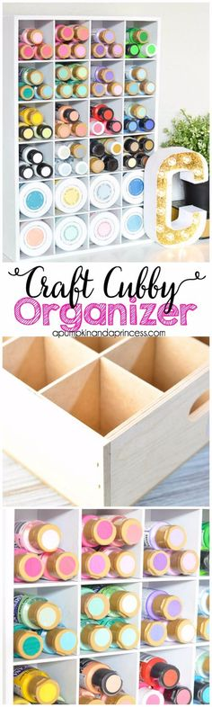 DIY Craft Room Storage Ideas and Craft Room Organization Projects - Craft Cubby Organizer - Cool Ideas for Do It Yourself Craft Storage, Craft Room Decor and Organizing Project Ideas - fabric, paper, pens, creative tools, crafts supplies, shelves and sewing notions http://diyjoy.com/diy-craft-room-storage